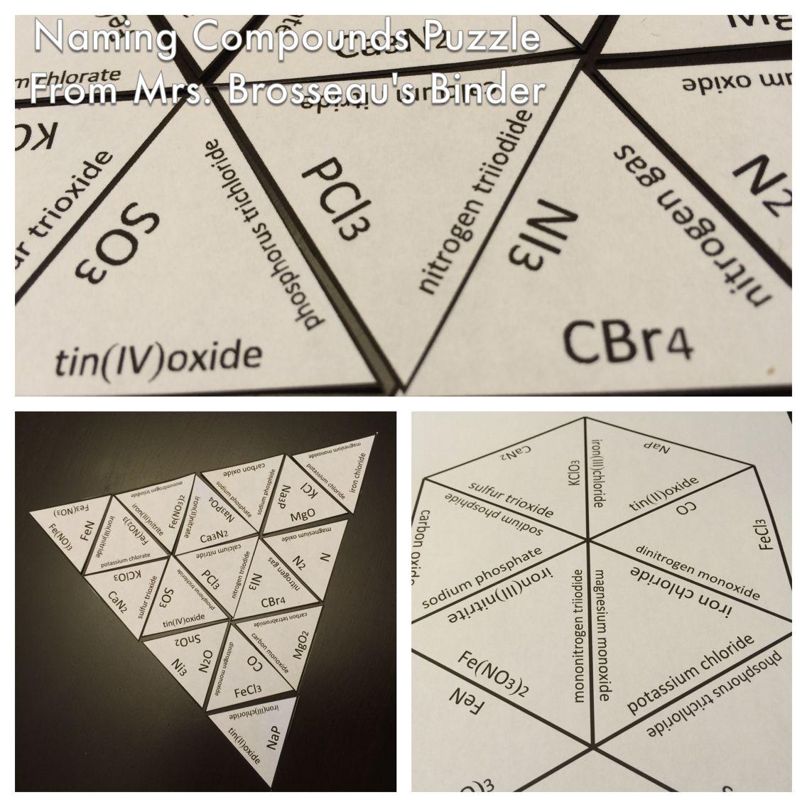 Naming Compounds Puzzle