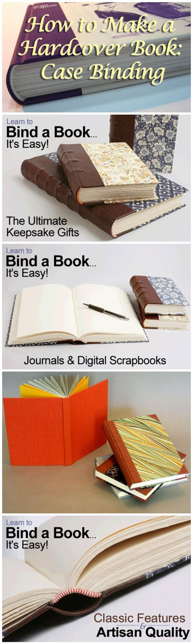 How to Make a Hardcover Book Case Binding Everything