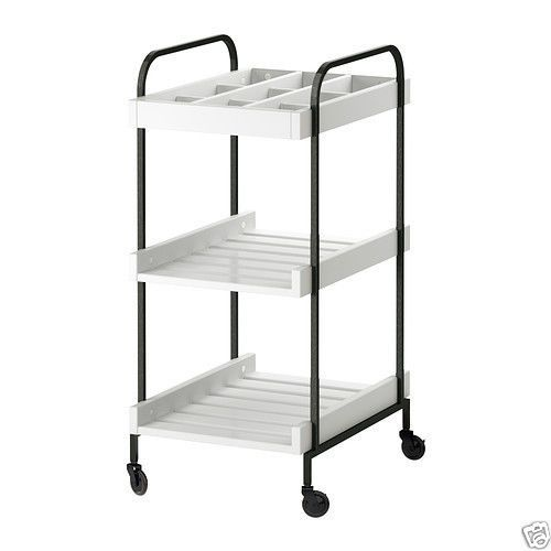 ikea hjalmaren storage trolley bathroom table island castor wheels