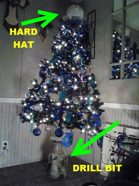 Roughneck Christmas Tree Oilfield Humor Pinterest