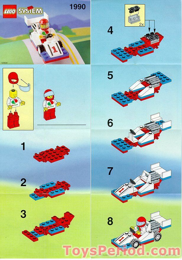 F1 Race Car Instruction Lego Love Pinterest Lego and