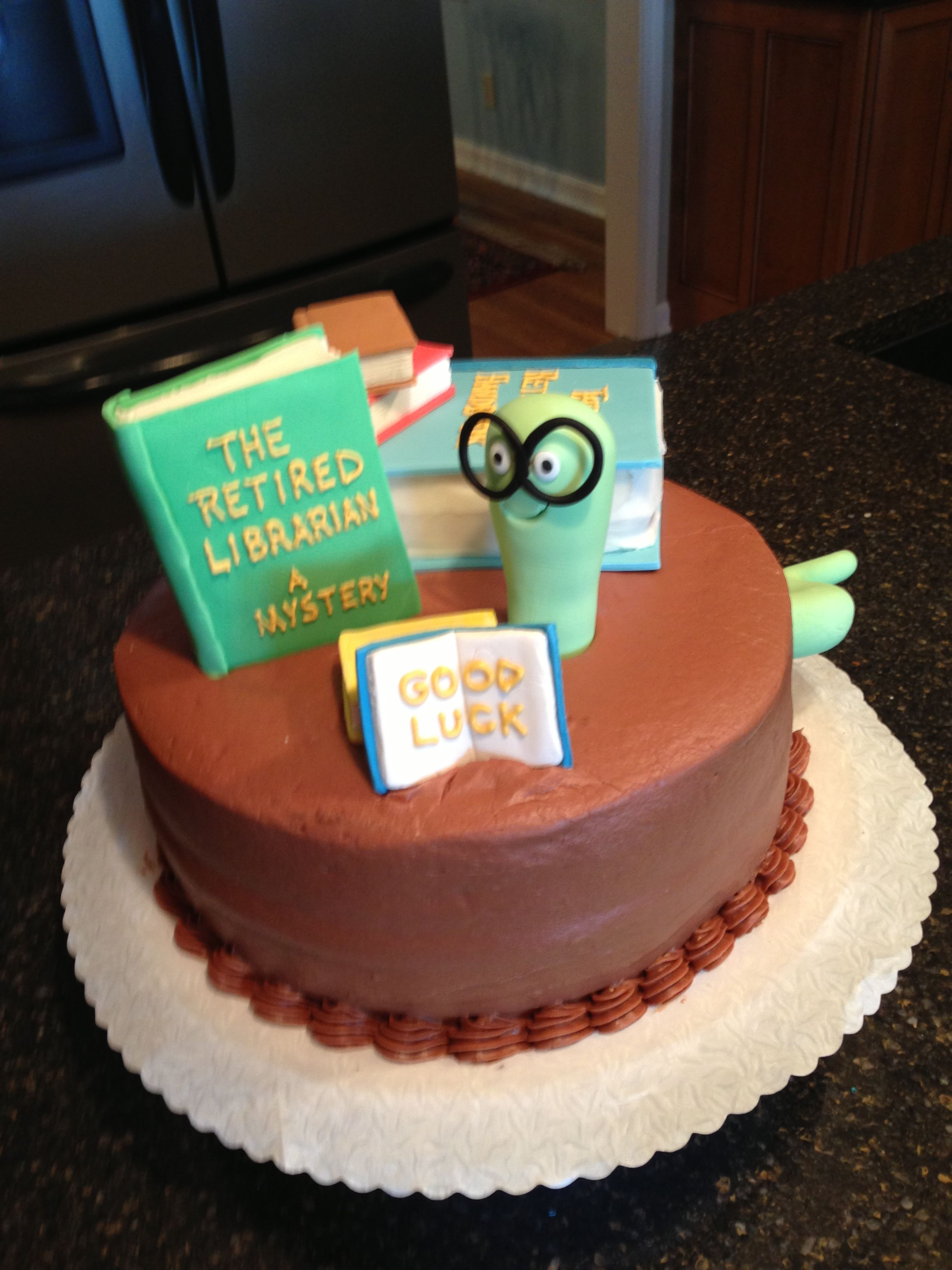Retirement Cake Librarian