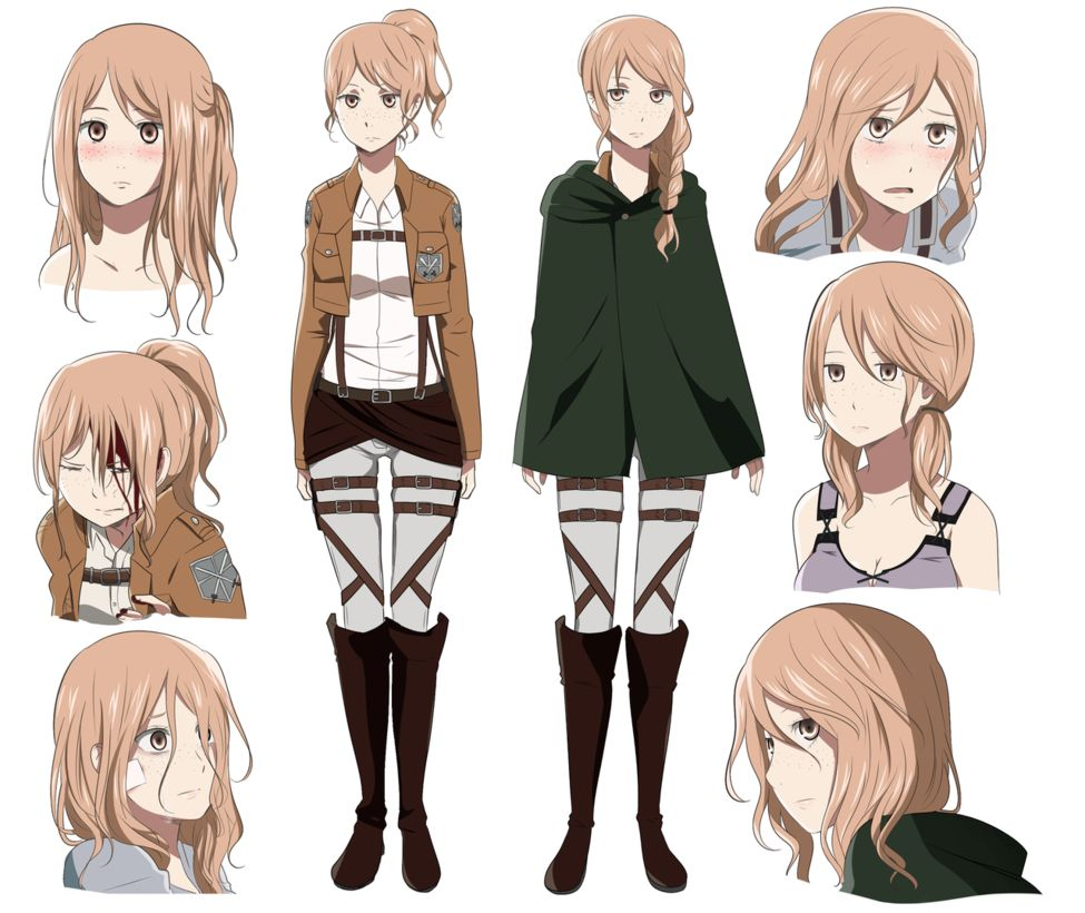 Attack on Titan character design Characters Pinterest
