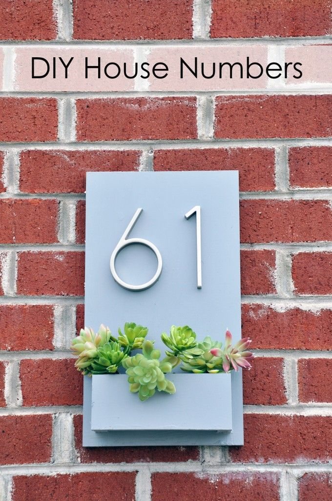 DIY modern house numbers { Bellwood Manor } Pinterest