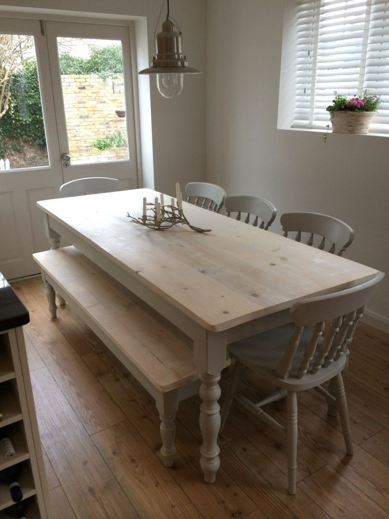 The 'Florence Clear'Reclaimed Farmhouse Dining table