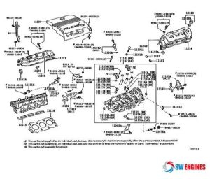 2005 Toyota Camry Exploded Engine Diagram #SWEngines