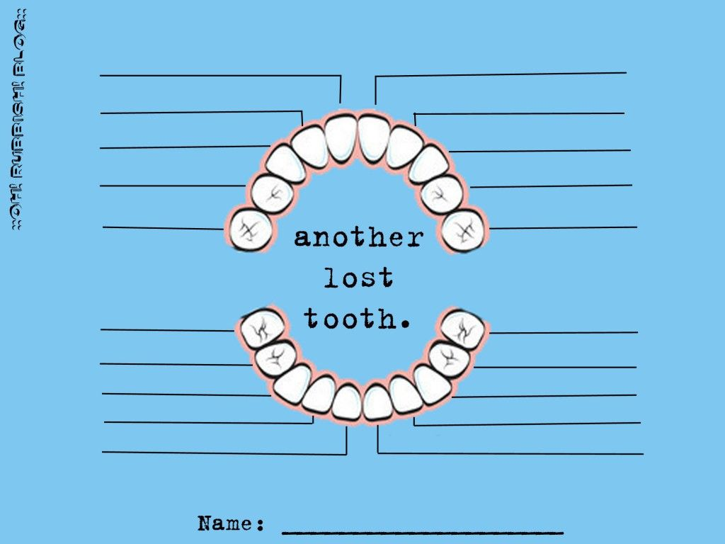 Tooth Fairy Tooth Chart Printable By Oh Rubbish Blog