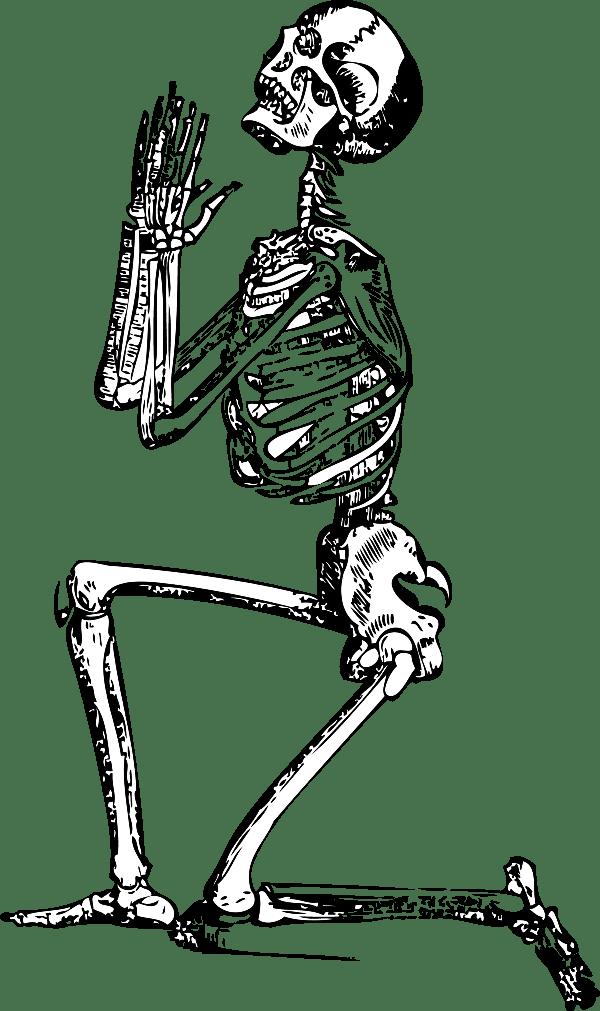 Skeleton Clip Art Praying Skeleton Vector Clip Art