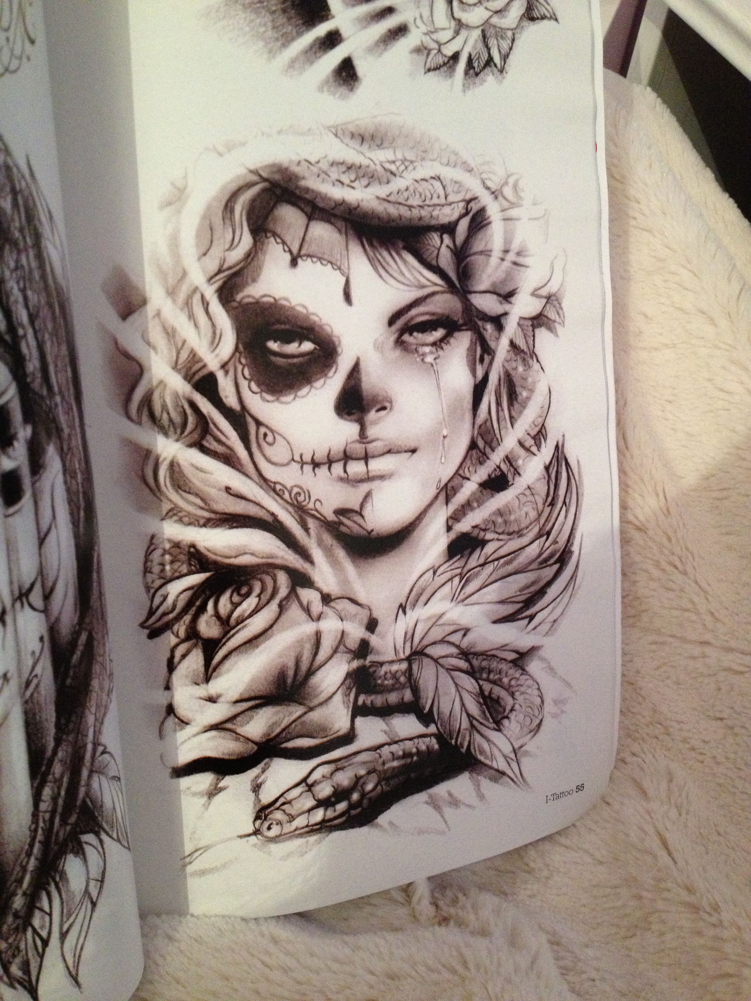 Day of the dead, Mexican girl. Tattoo Ideas Pinterest