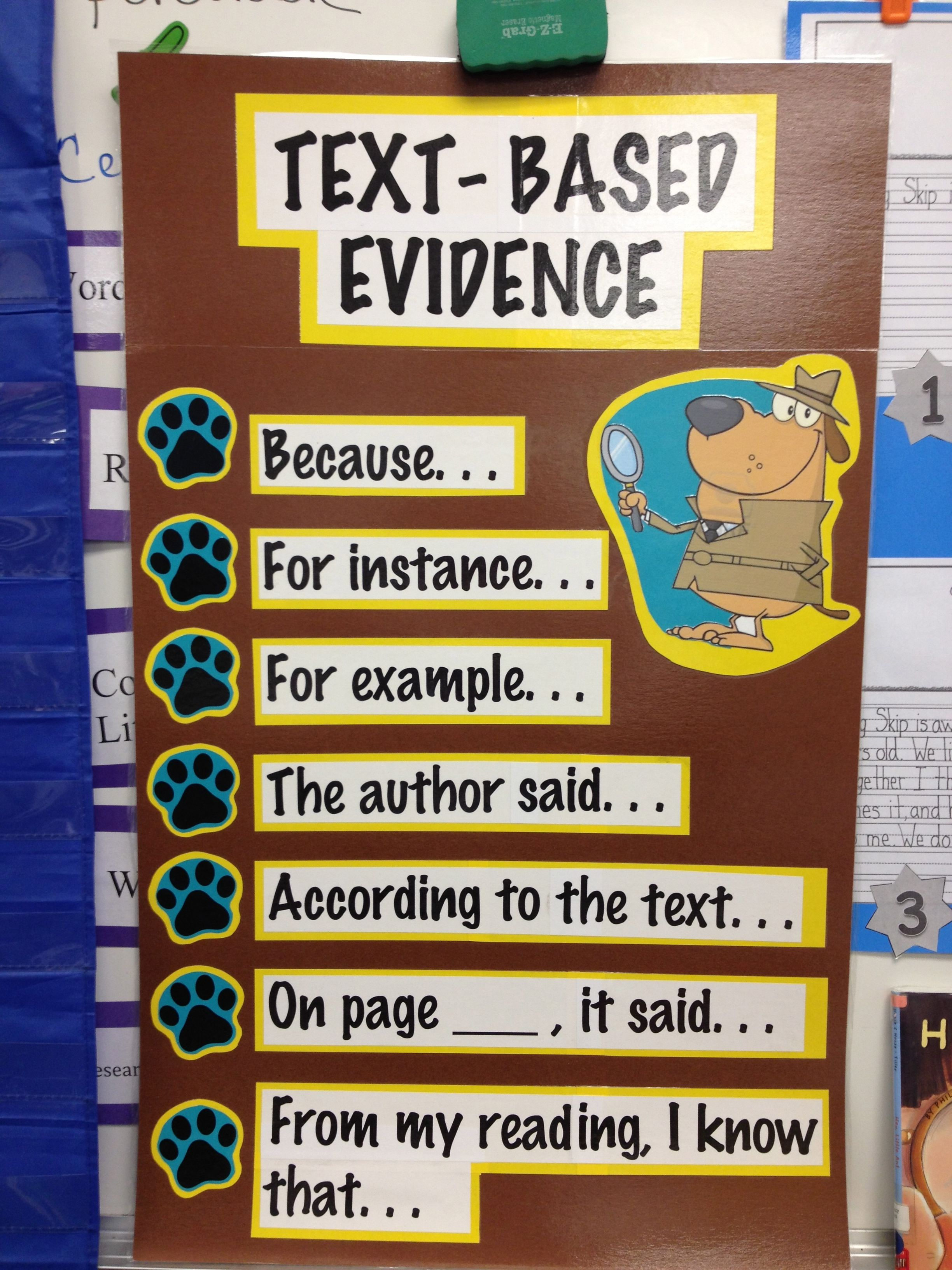Text Based Evidence Sentence Frames Our First Grade Volunteer Is Absolutely Wonderful She