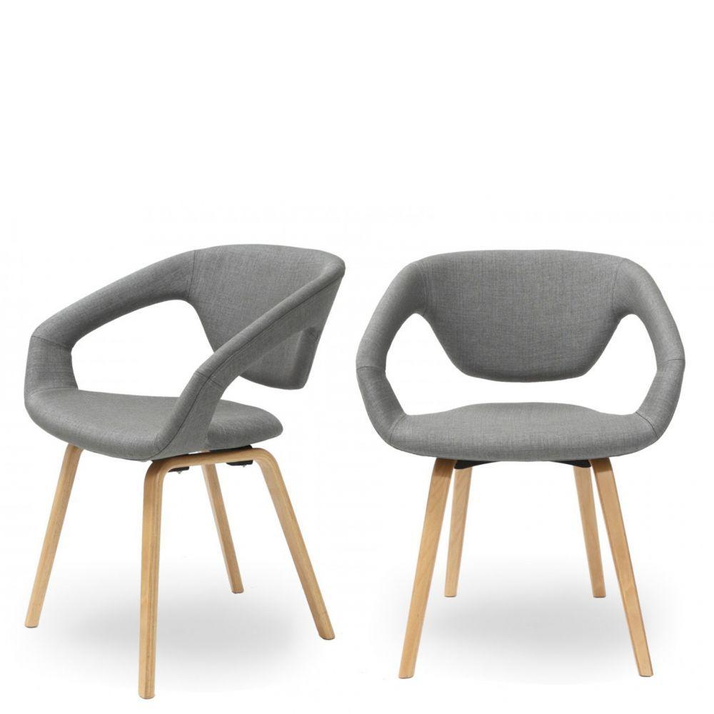 lot de 2 chaises design danwood soft