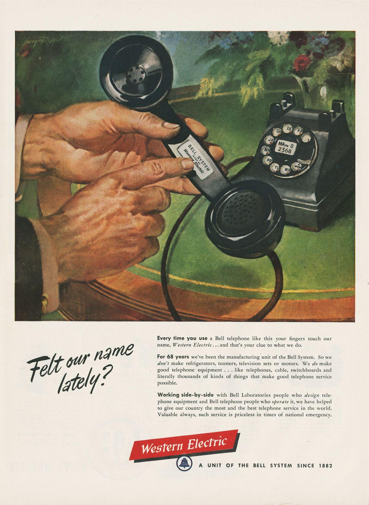 Vintage Western Electric Ad Vintage Ads Pinterest