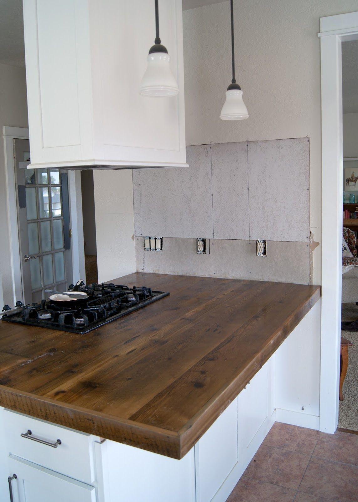 DIY Reclaimed Wood Countertop Countertops, I am and
