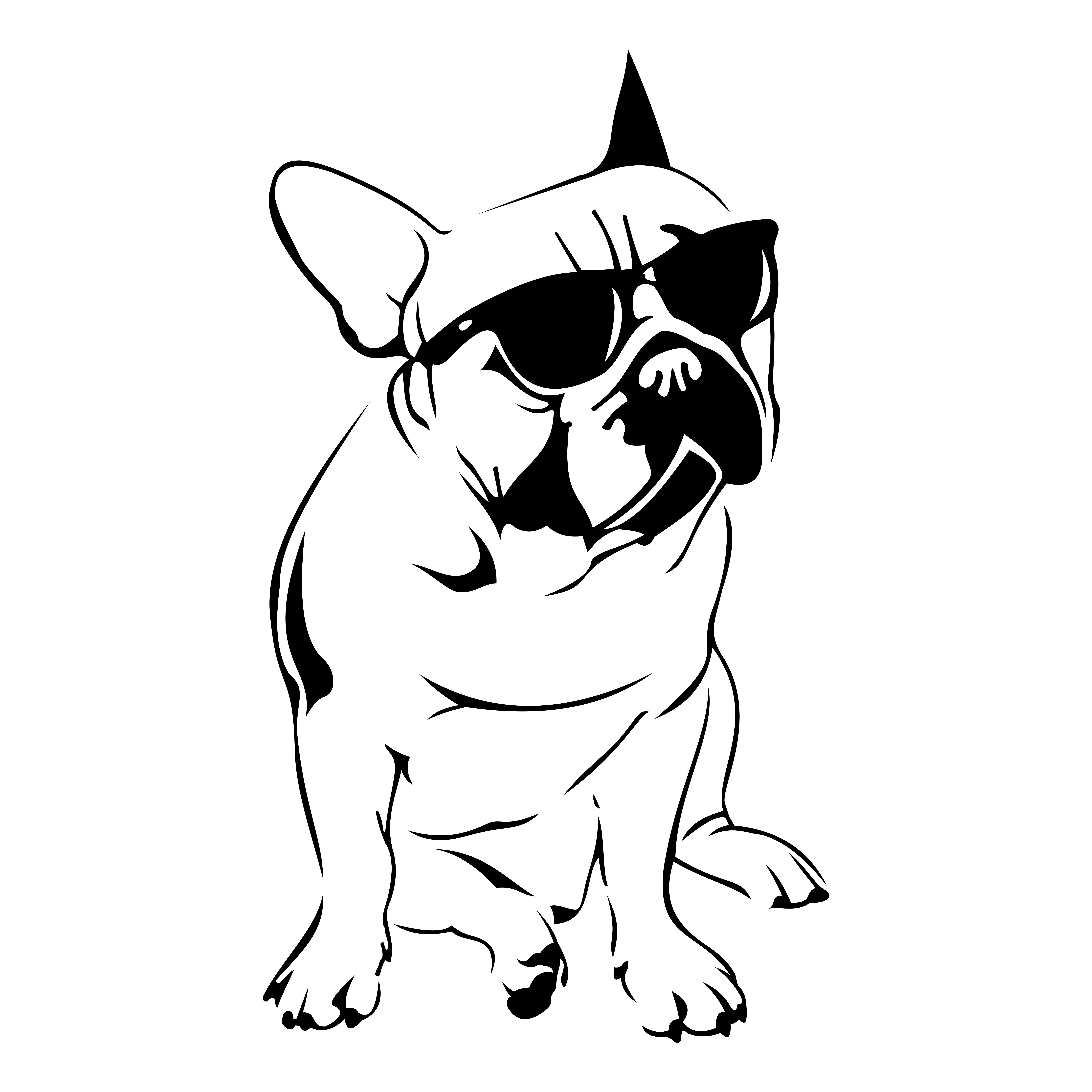 French Bulldog Design SVG DXF EPS Png Cdr Ai Pdf Vector