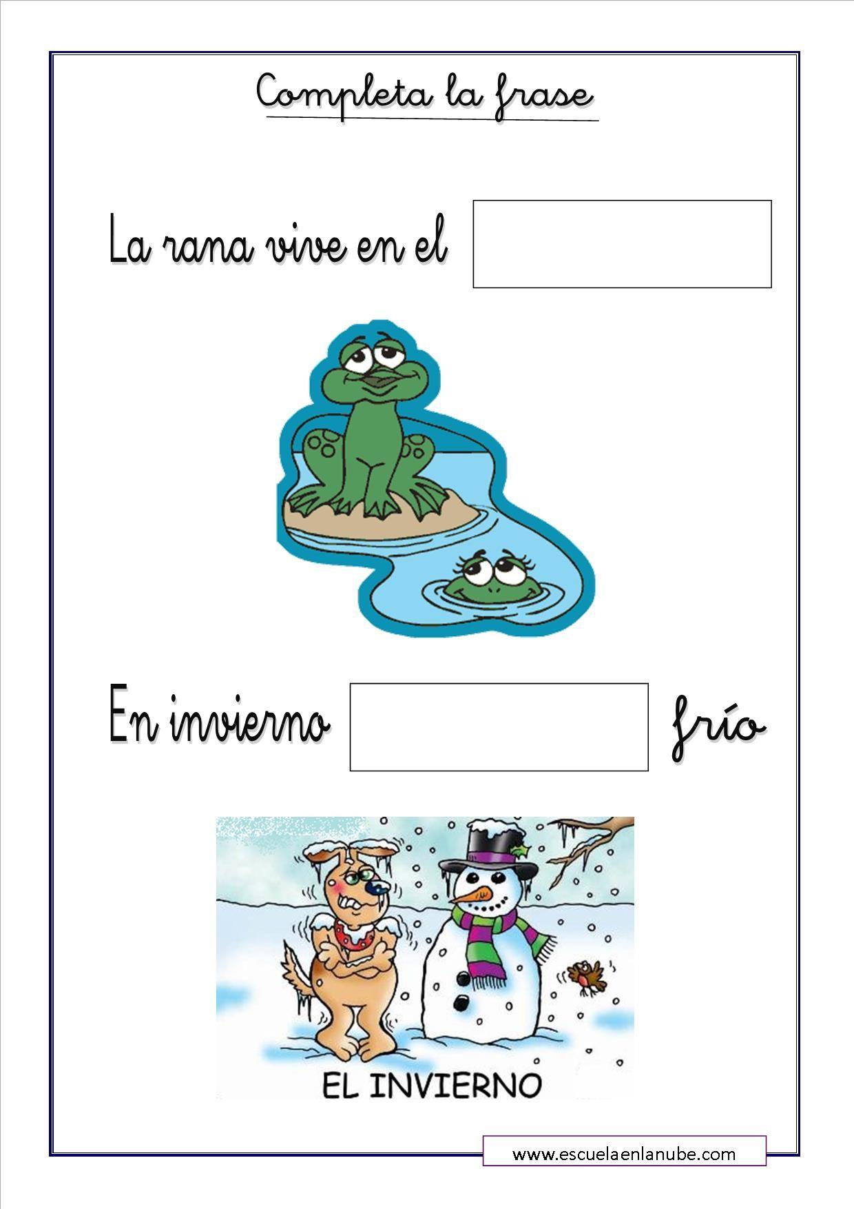 Fichas De Lengua Para Completar Y Repasar Las Frases Os