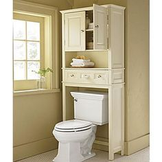 over+the+toilet+space+saver | common bathroom space savers above