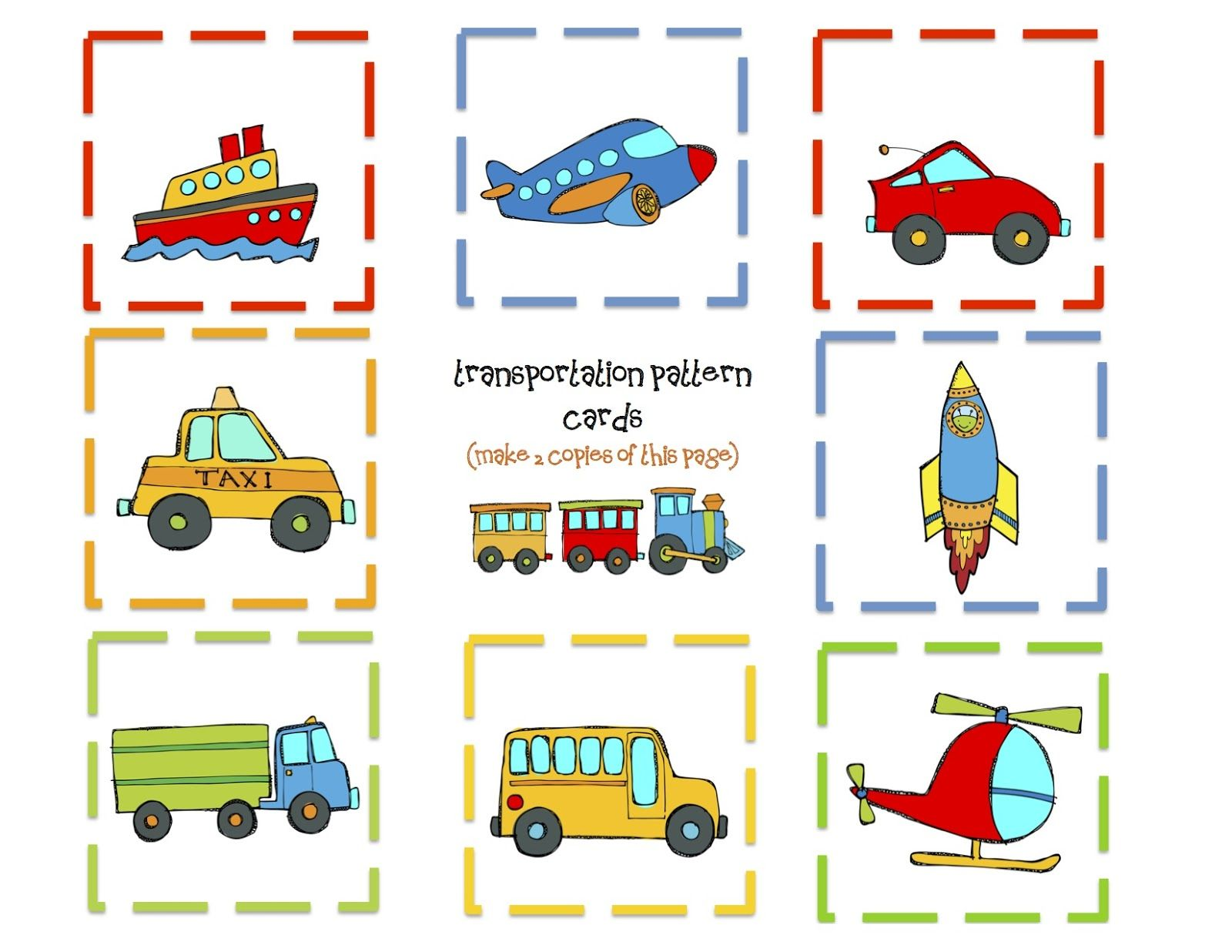 Transportation 9 Pattern Cards 1 600 1 236 Pixels