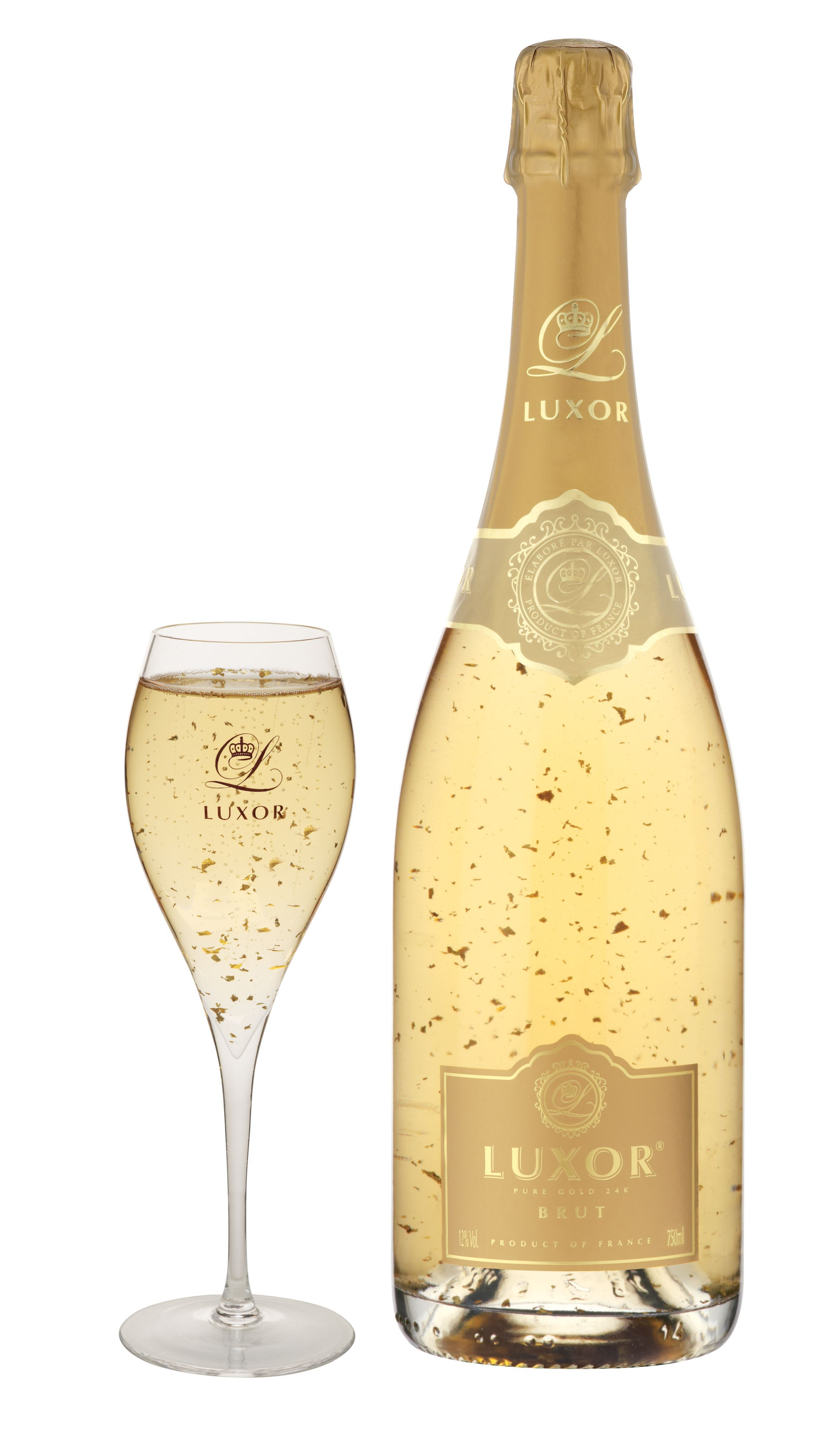 Luxor Brut Champagne a blend of Brut Champagne and food