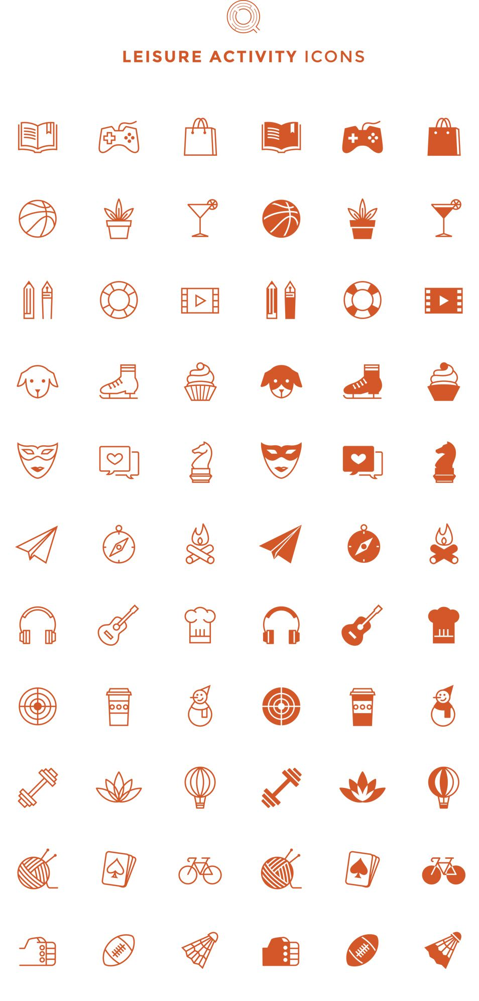 Free Line Filled Leisure Activity Icons Free stuff