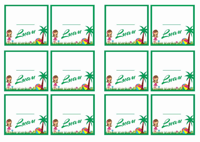 Free Printable Luau Themed Name Tags Themed Name Tags