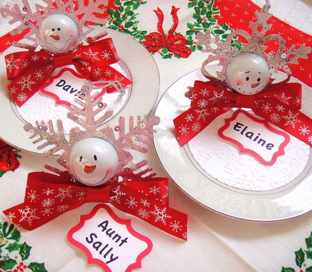 DIY holiday place setting favors Party Favors