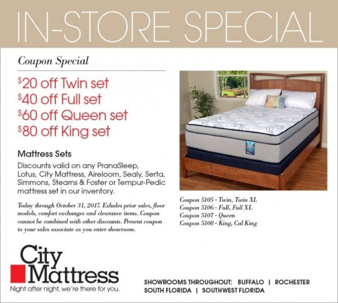 Mattress City Coupons