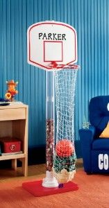Basketball Laundry Hoop Personalized Hamper Bank Wellness Fitness Kaboodle