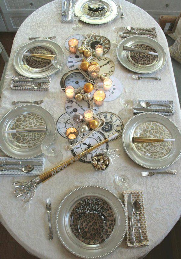 tischdeko silvester dekoration Silvester/Neujahr