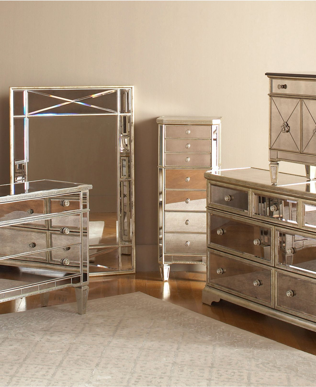 marais mirrored furniture collection | furniture sets, mirrored