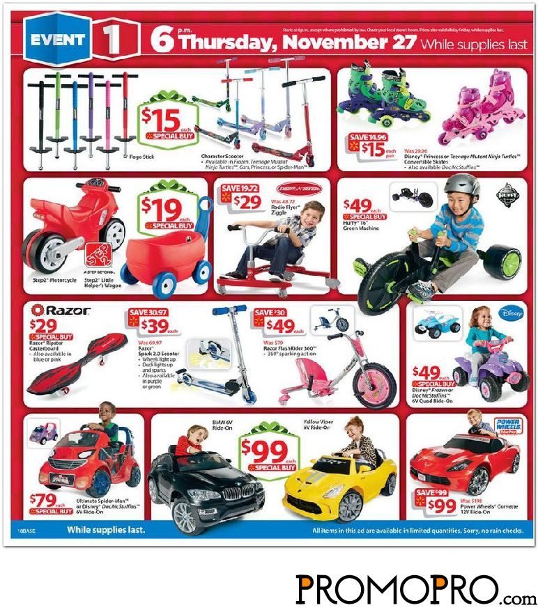 Walmart Black Friday Ad Scan page 11 Character Scooter