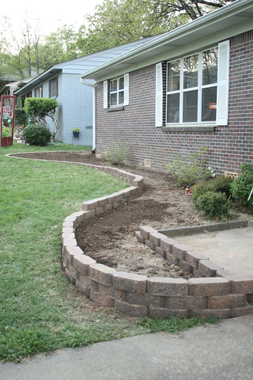 Great step by step post on building a flower bed I