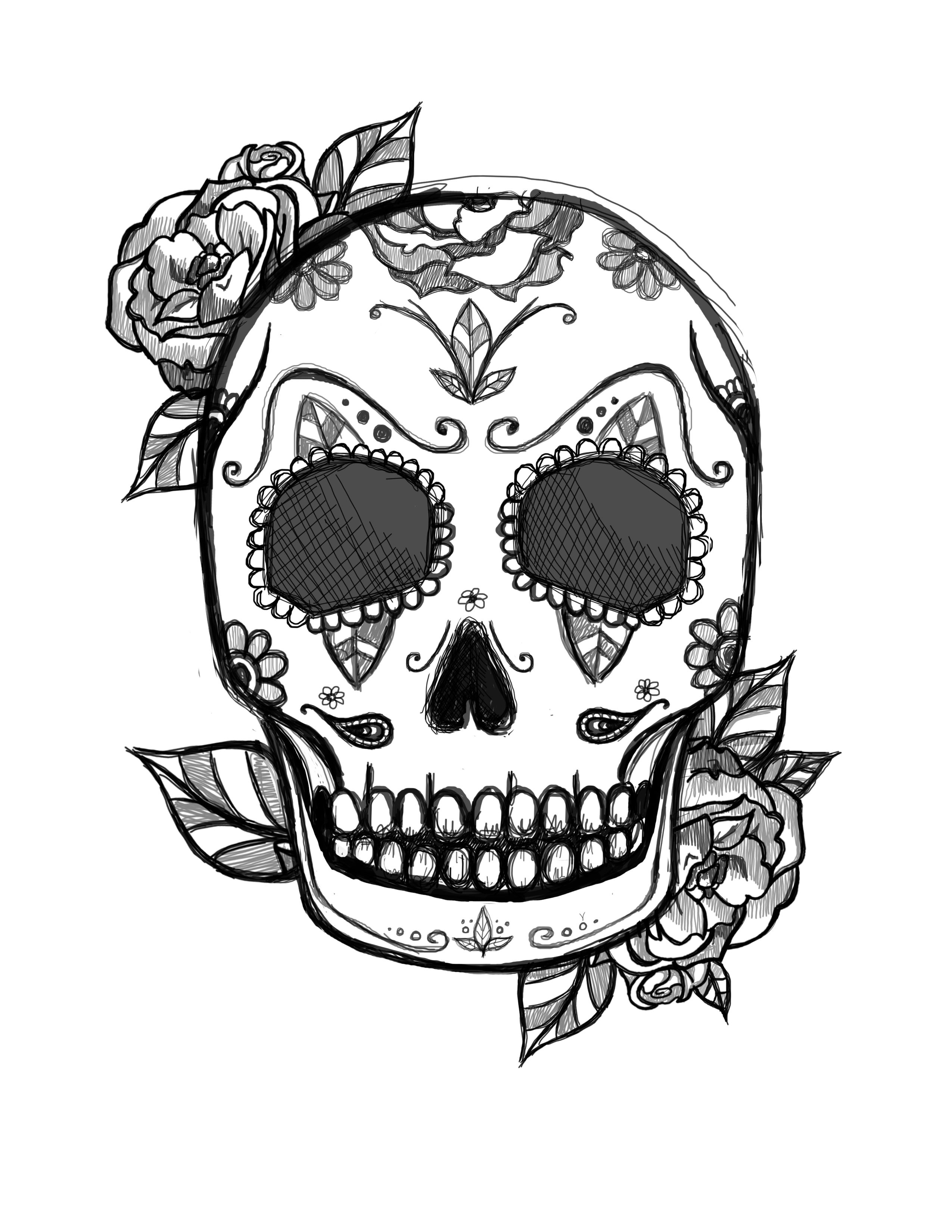 mexican skull tattoo design Tattoos by Me Pinterest