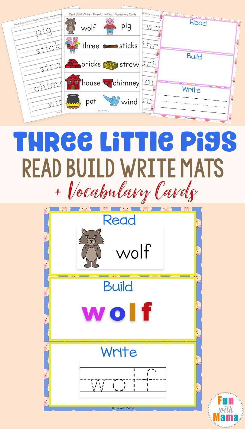 Re D Build Write M Ts Three Little Pigs Voc Bul Ry C Rds