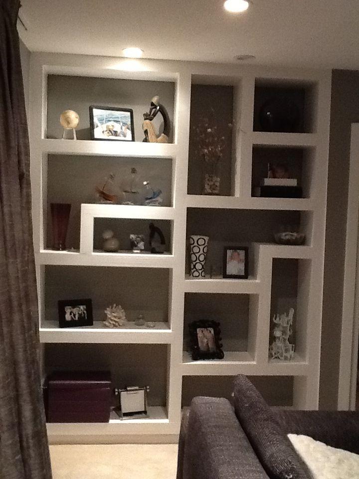 Modern Built Shelves Decorating Ideas Shelves