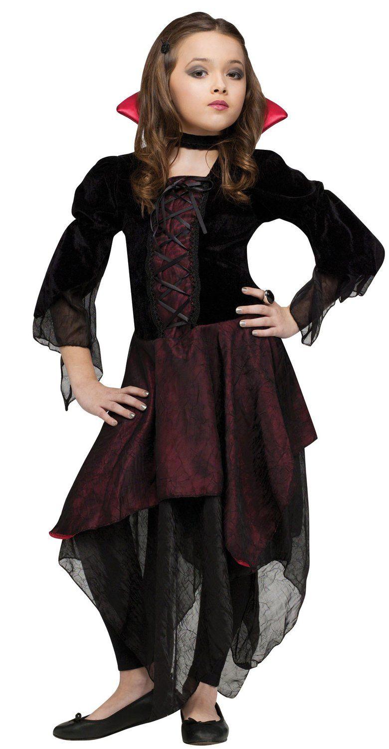 Kids Lady Dracula Girl Vampire Costume Dracula Costumes