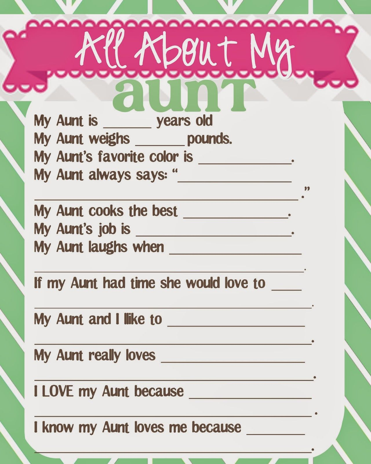 What Does The Cox Say Mother S Day Questionnaire And Free Printables