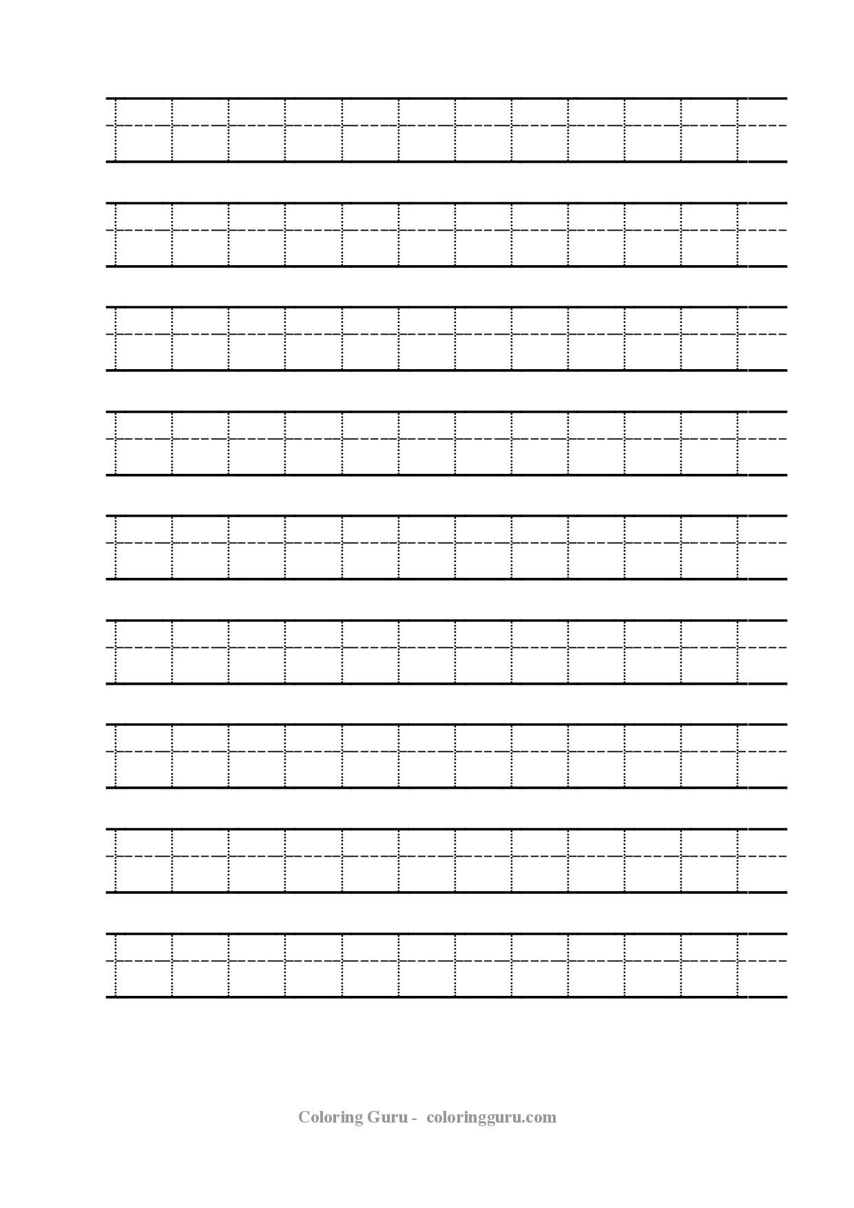 Free Printable Tracing Number 1 Worksheets