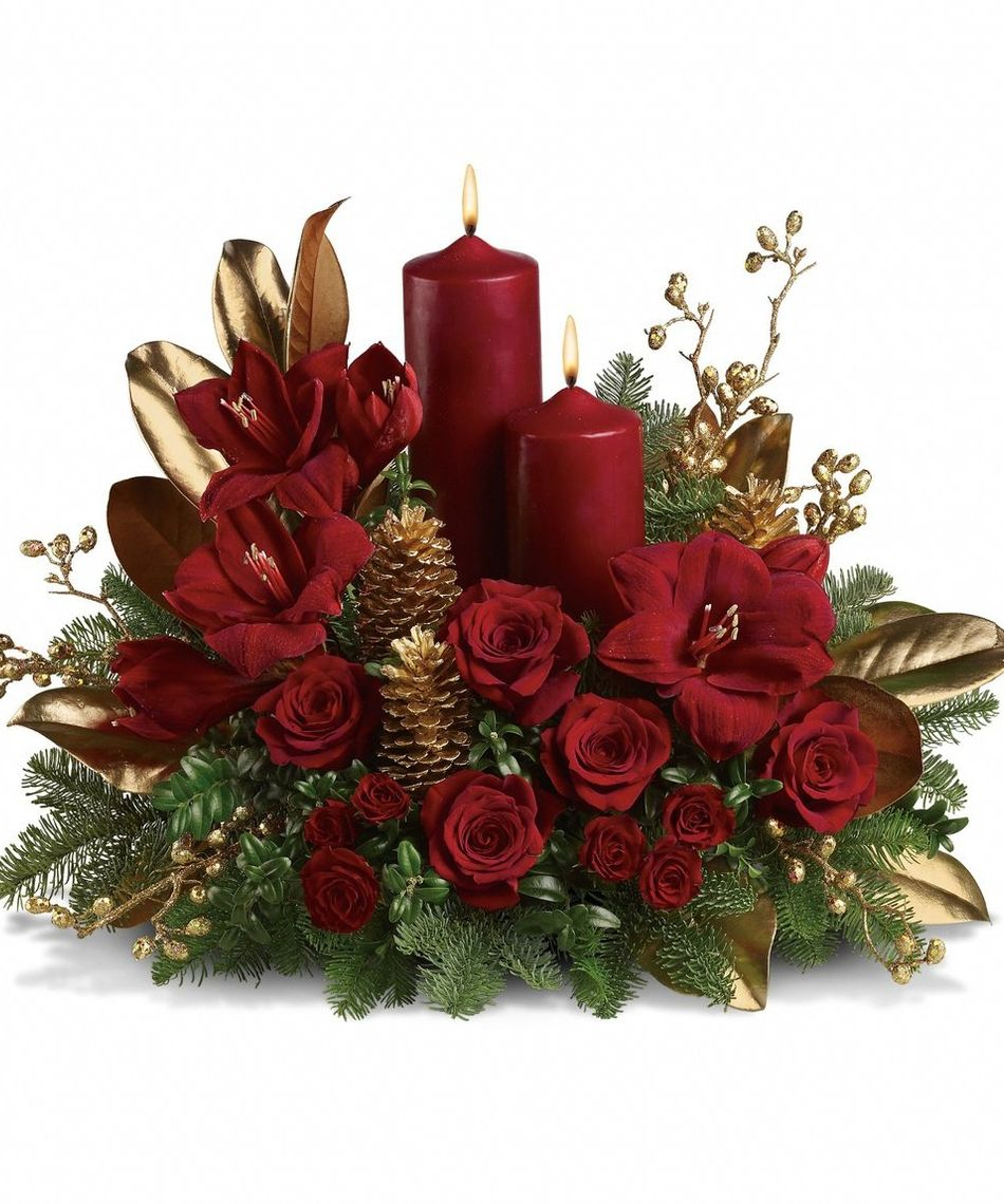 christmas table flower arrangements Google Search
