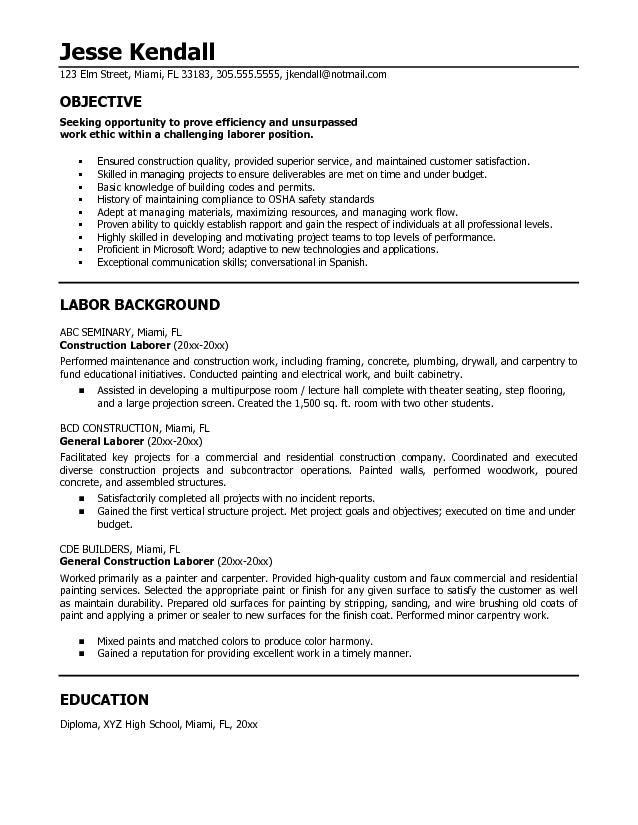 resumes for excavators construction resume pinterest. Resume Example. Resume CV Cover Letter