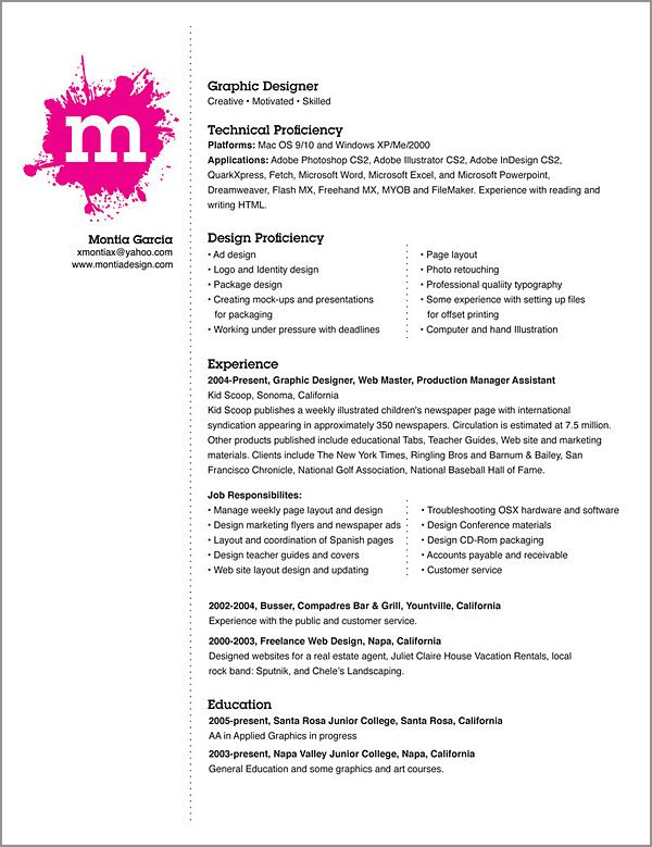 graphic design resume examples pdf samples - Graphic Design Resume Samples Pdf