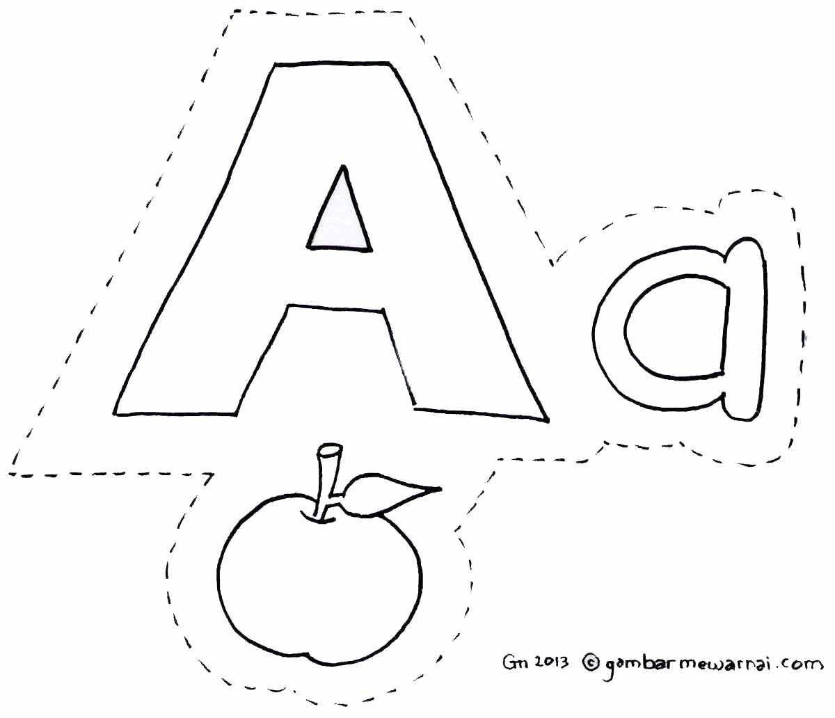 Gambar Mewarnai Abjad Cari Bahan Mengajar Untuk Anak Anak