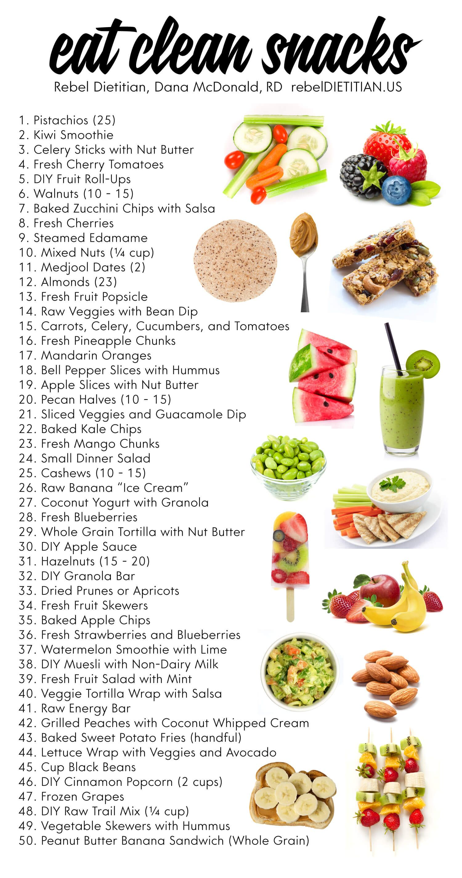 Updated Healthy Snack Ideas (Vegan) rebelDIETITIAN.US