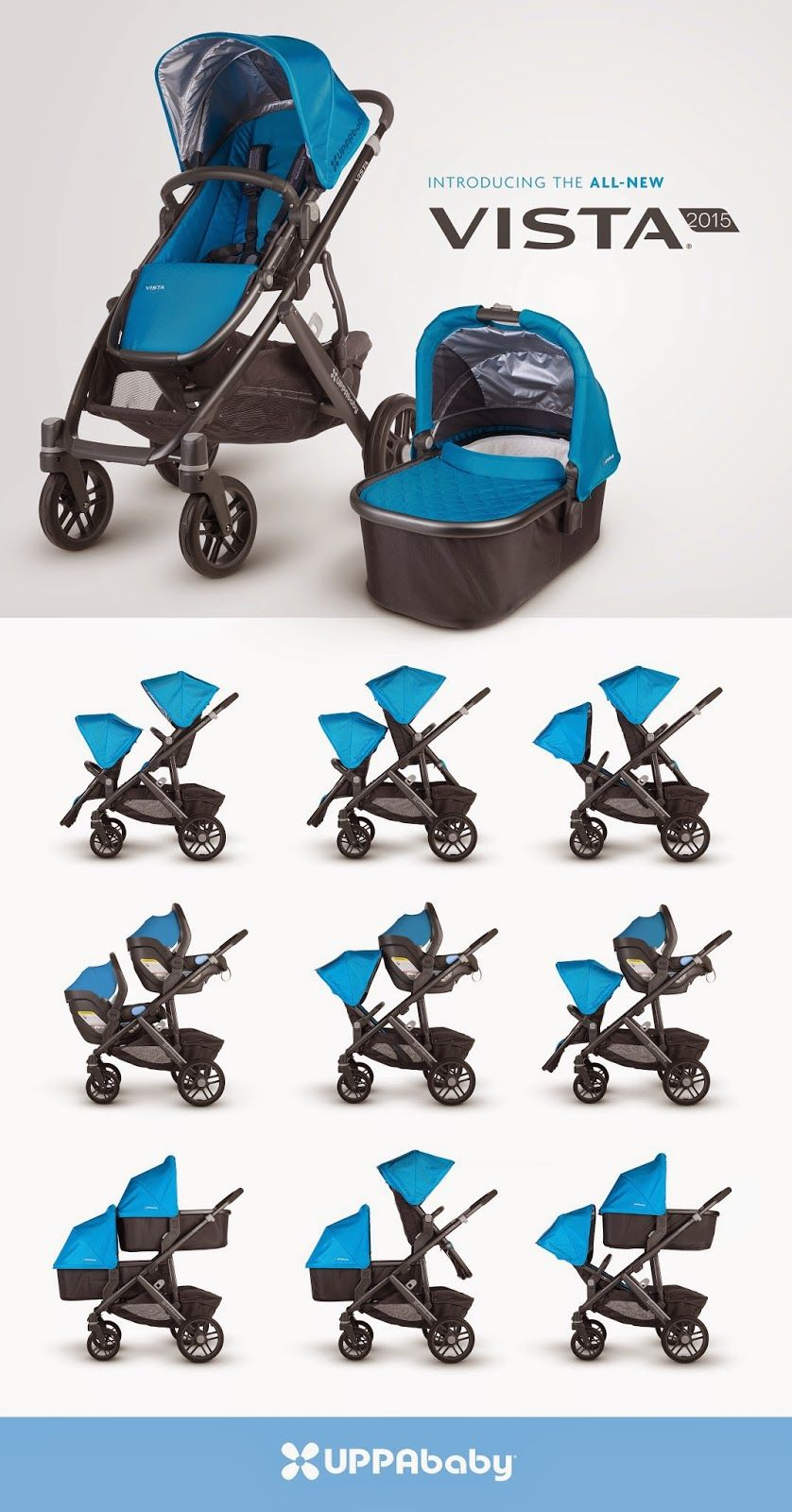 In ALL BLACK uppababy vista 2015! Children Pinterest