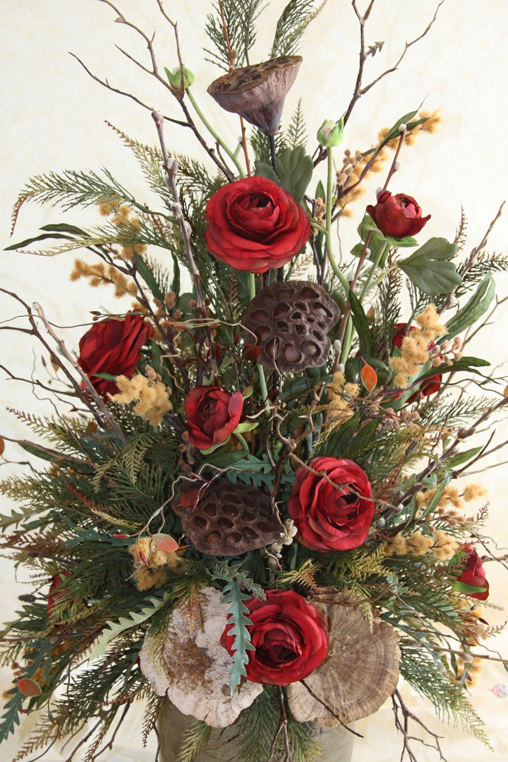 SOLD...Made to Order Rustic Floral Arrangement by