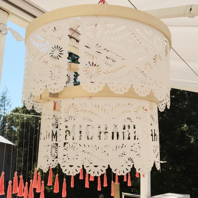 Every Tiny Detail Is Madewithmichaels This Papel Picado Chandelier Cut With Cricut