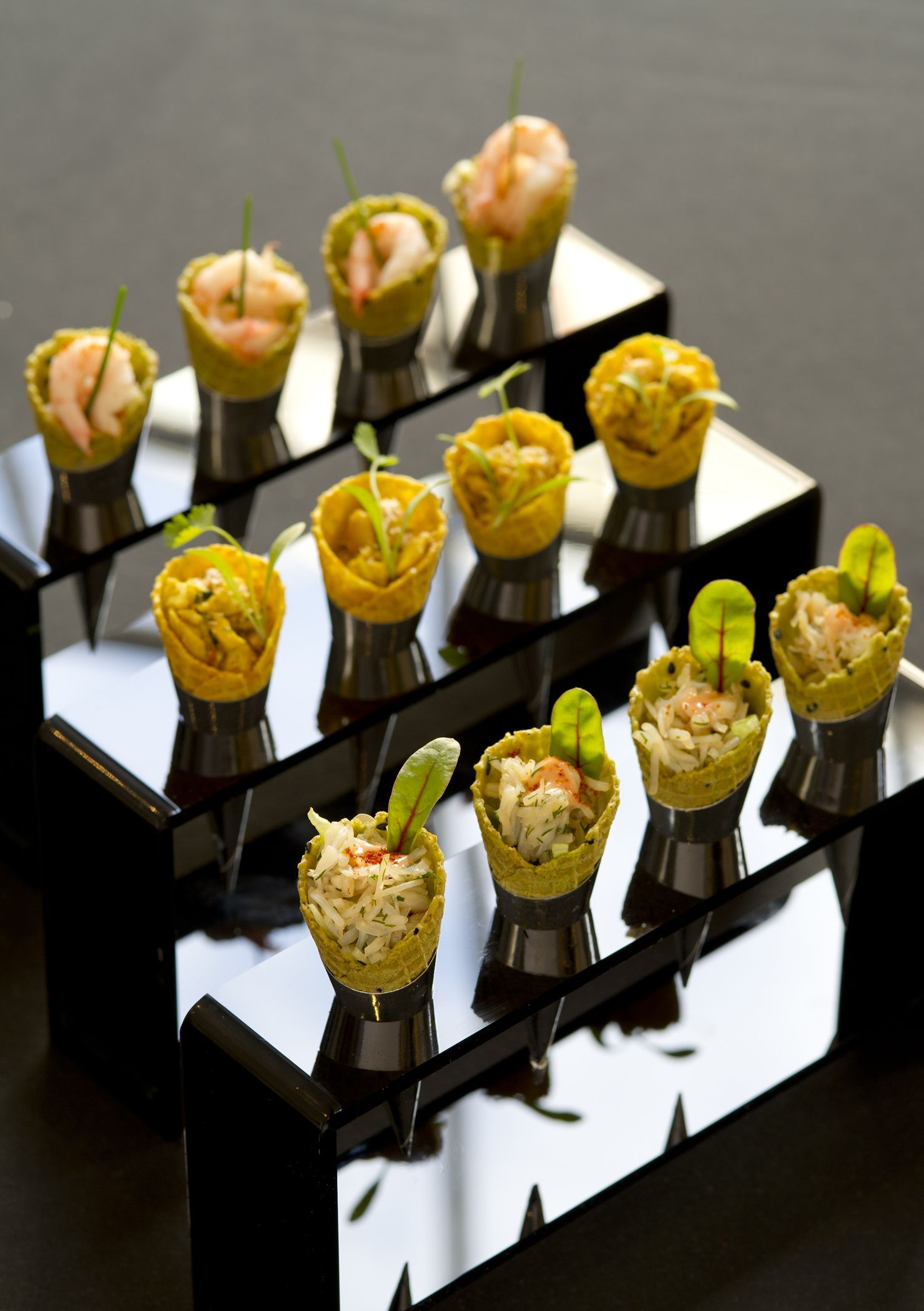 195 Piccadilly canapes Coronation Chicken Cones