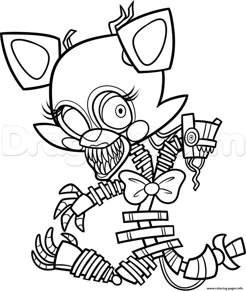 print freddy s at five nights 2 fnaf coloring pages