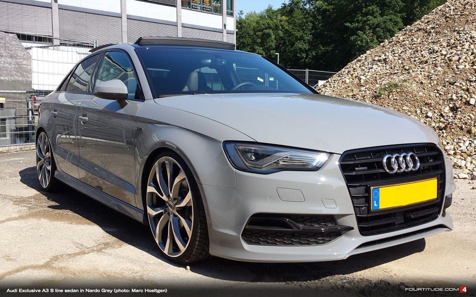 Nardo Grey Audi A3 Sedan Audi custom Pinterest Low