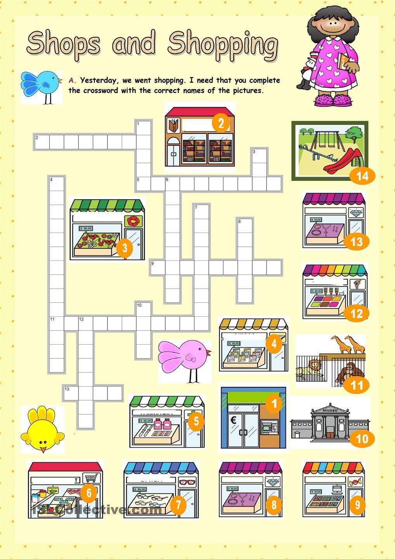 Shops and Shopping english for children Pinterest