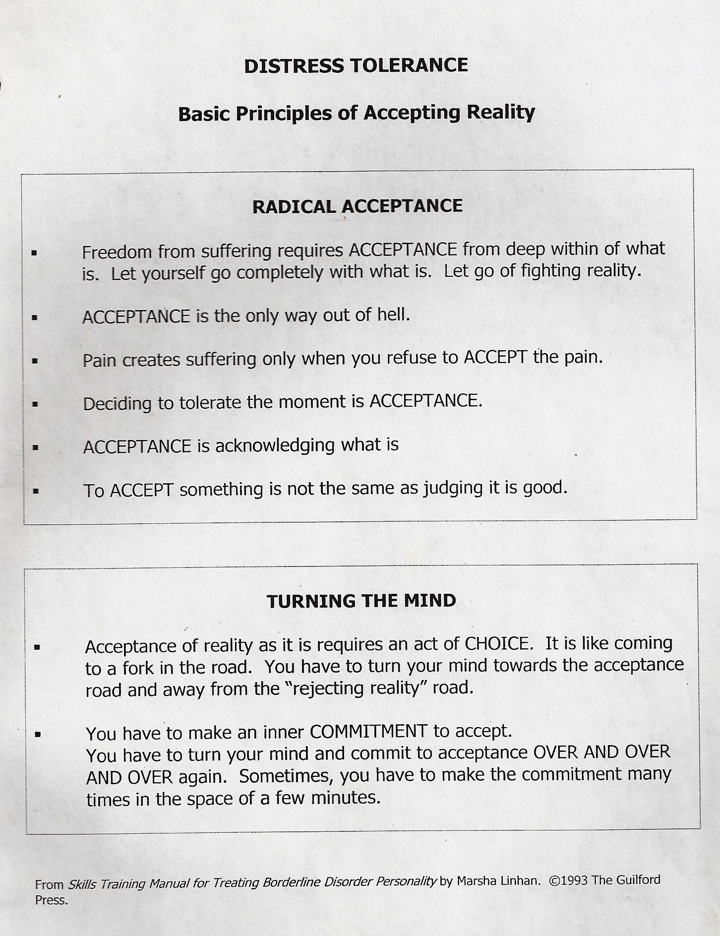 Radical Acceptance Worksheet Gambarin Us